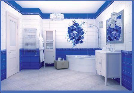 Панель ПВХ VENTA Exclusive Синяя орхидея 375мм