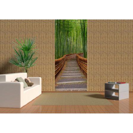 Панель ПВХ с фотопечатью Бамбук натуральный декор 2700x250x9 мм