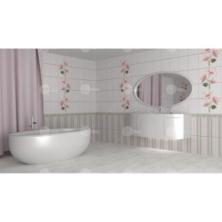 Панель ПВХ с фотопечатью Камила розовая 2700x250x9 мм