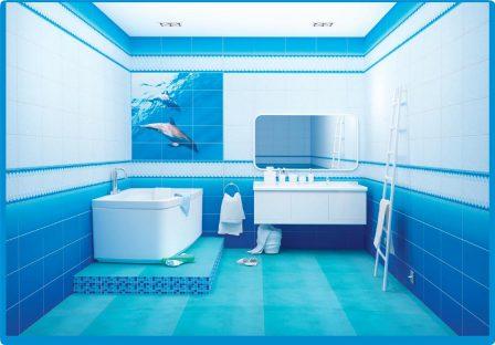 Панель ПВХ VENTA Exclusive Дельфины 375мм