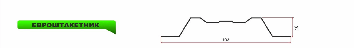 Евроштакетник 0,4 Полимерное покрытие