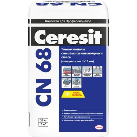 Ceresit СN 68 Тонкослойная самонивелирующиеся смесь для пола (25кг) 1 - 15 мм