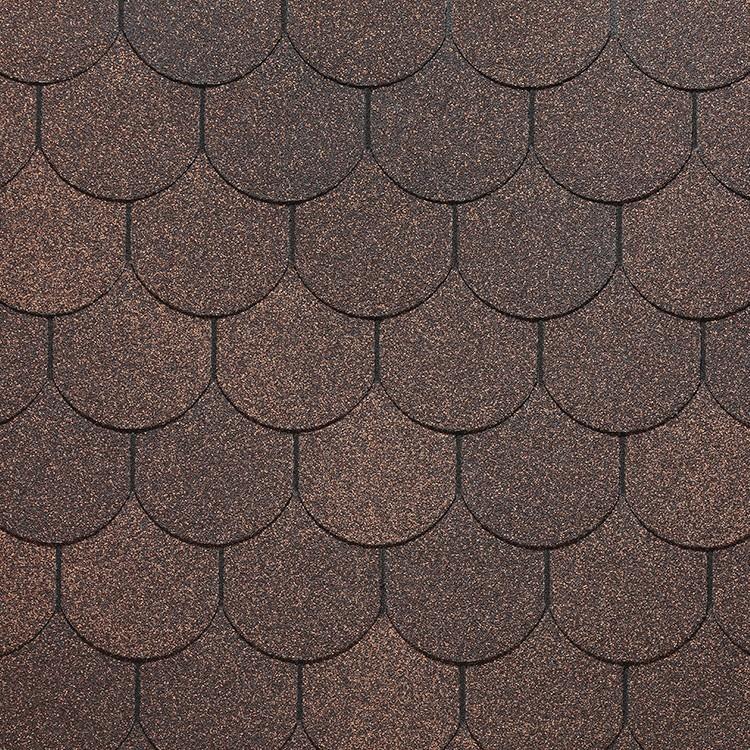 Черепица европа купол коричневый