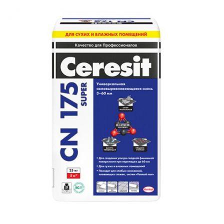 Ceresit CN 175 Super универсальная самовыравнивающаяся смесь (25кг)