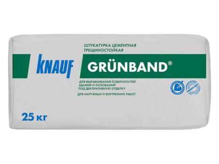 Штукатурка цементная теплоизоляционная Кнауф Грюнбанд (25кг)