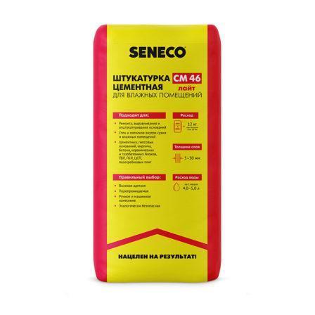 Штукатурка цементная легкая Seneco СМ 46 Light (25 кг)