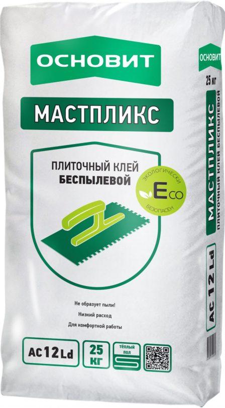 Клей плиточный Основит Мастпликс ECO AC12 LD Беспылевой (25кг)