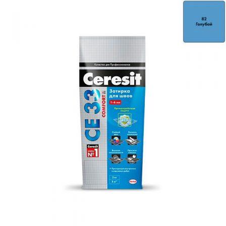 Затирка Ceresit CE 33 Comfort - Голубой (2кг)