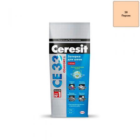 Затирка Ceresit CE 33 Comfort - Персик (2кг)