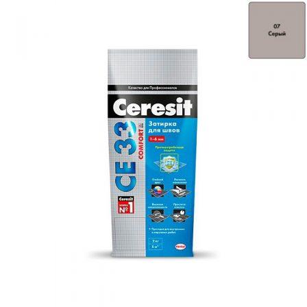 Затирка Ceresit CE 33 Comfort - Серая (2кг)