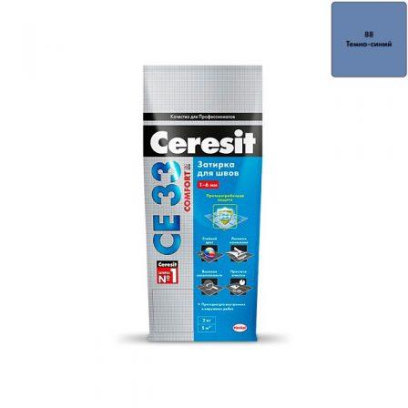 Затирка Ceresit CE 33 Comfort - Темно-синий (2кг)
