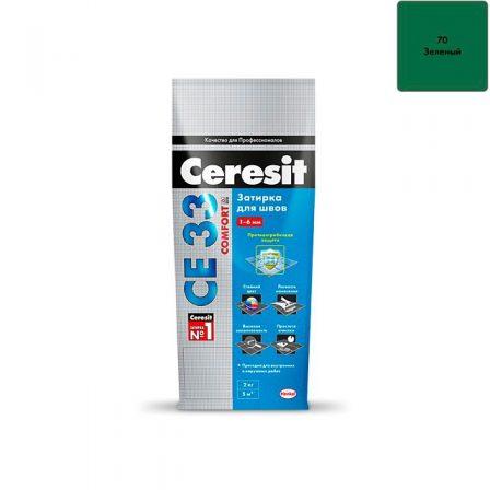 Затирка Ceresit CE 33 Comfort - Зеленый (2кг)