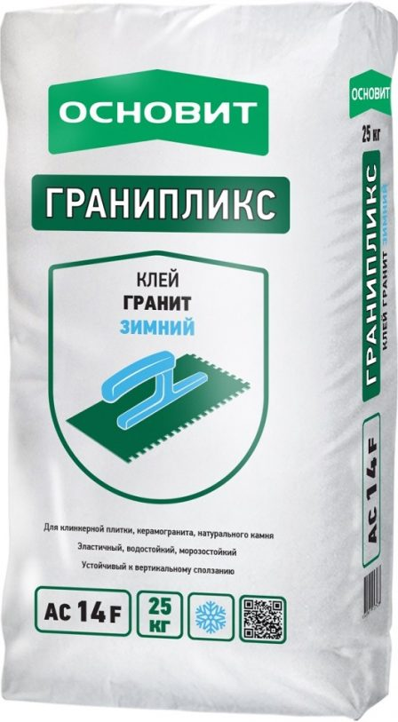 Плиточный клей Основит Гранипликс АС14 F Гранит Зимний (25 кг)