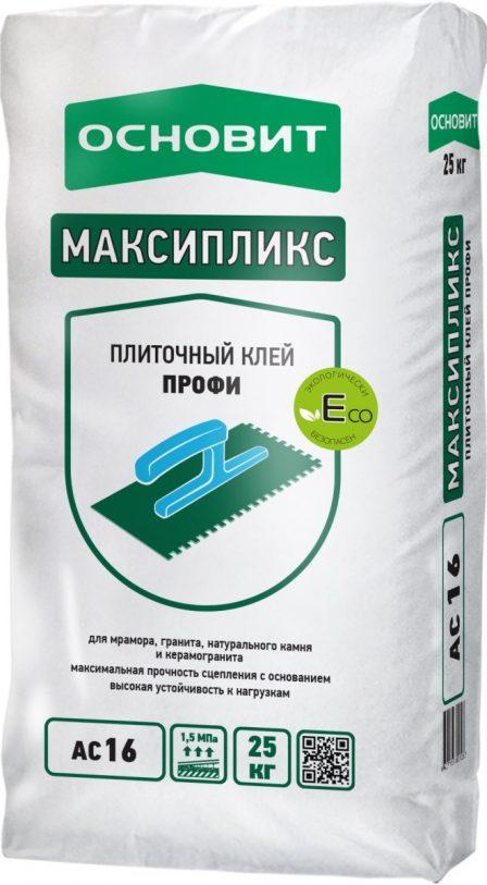Клей Основит Максипликс АС16 Профессиональный беспылевой (25кг)