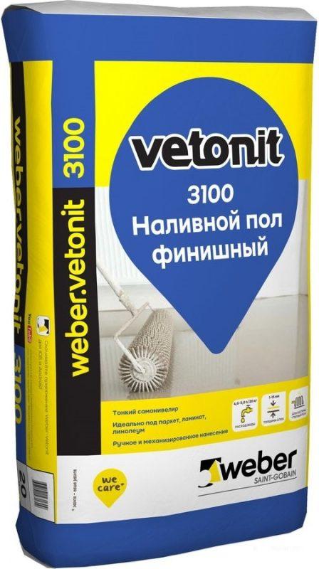 Ветонит 3100 наливной пол финишный (20кг) от 1 до 15 мм