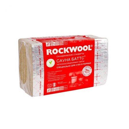 Утеплитель Rockwool Сауна Баттс, 1000х600х50мм (8пл./4,8м2)