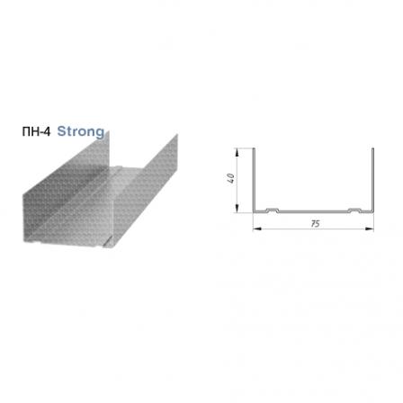 Профиль направляющий Албес Strong 0,65мм ПН 75х40х3000мм