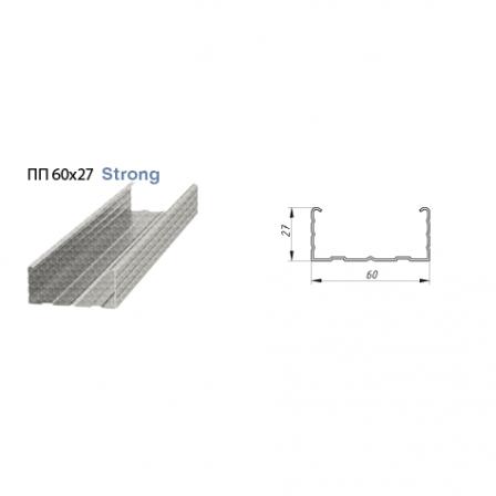 Профиль потолочный Албес Strong 0,65мм ПП 60х27х3000мм