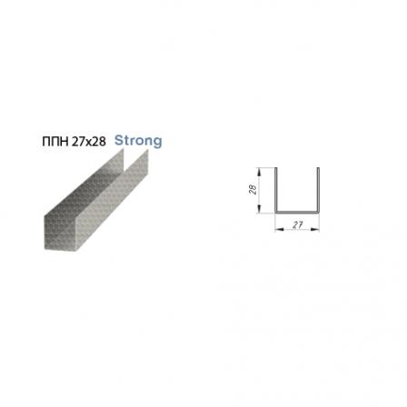 Профиль направляющий Албес Strong 0,65мм ПН 27х28х3000мм