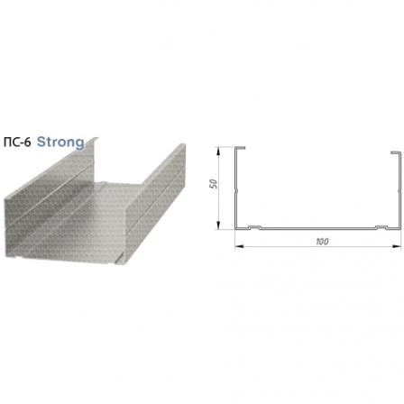 Профиль стоечный Албес Strong 0,65 мм ПН 100х50х3000мм