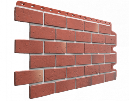 Панель фасадная Docke Berg 1131х460 мм, Рубиновый