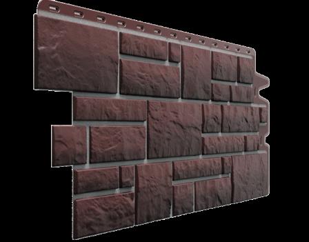 Панель фасадная Docke BURG 445х946 мм, Земляной