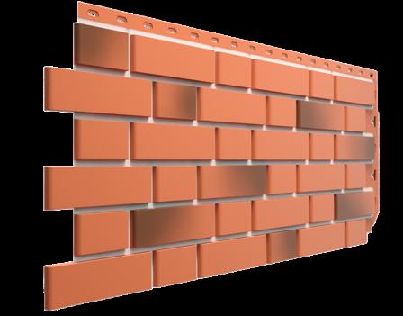 Панель фасадная Docke FLEMISH 420х1095, Красный жженый