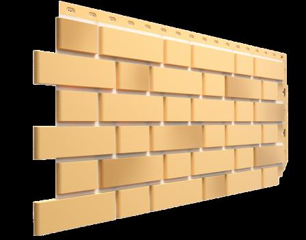 Панель фасадная Docke FLEMISH 420х1095, Желтый жженый