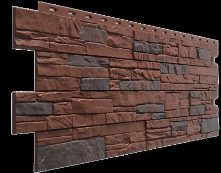 Панель фасадная Docke STEIN 400х1098 мм, Темный орех