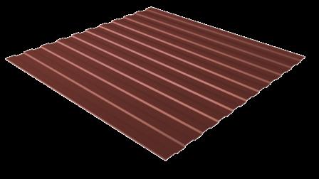 Профнастил С8 RAL 3009 (красная окись) полимерное покрытие