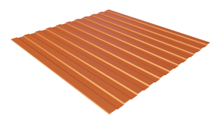 Профнастил С8 RAL 2004 (чистый оранжевый) полимерное покрытие