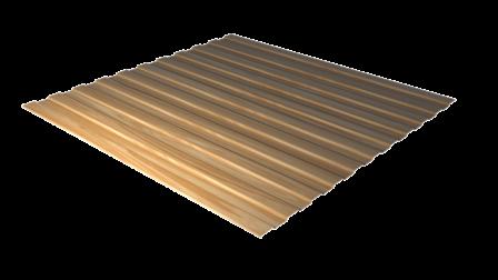Профнастил С8 золотой орех 3D декоративное покрытие