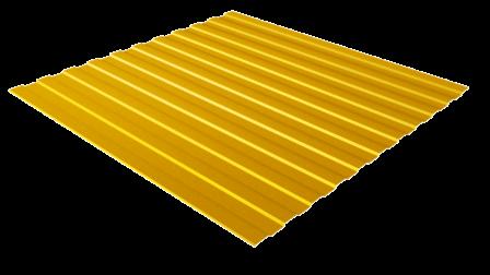 Профнастил С8 RAL 1018 (цинково-желтый) полимерное покрытие