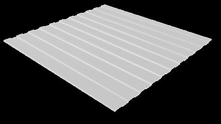 Профнастил С8 RAL 9003 (сигнальный белый) полимерное покрытие