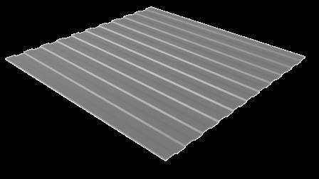 Профнастил С8 RAL 7004 (сигнальный серый) полимерное покрытие