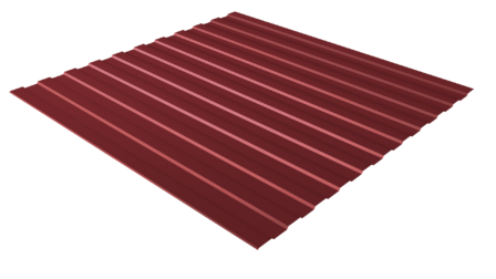 Профнастил С8 RAL RAL 3011 (коричнево-красный) полимерное покрытие