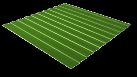 Профнастил С8 RAL 6002 (лиственно-зеленый) полимерное покрытие