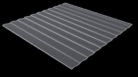 Профнастил С8 RAL 7024 (графитовый серый) полимерное покрытие