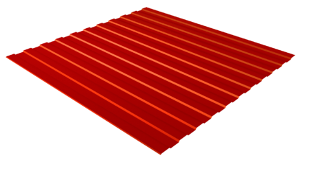 Профнастил С8 RAL RAL 3020 (транспортный красный) полимерное покрытие