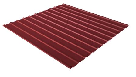 Профнастил С10 RAL 3011 (коричнево-красный) полимерное покрытие