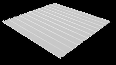Профнастил С10 RAL 9003 (сигнальный белый) полимерное покрытие