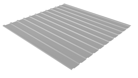 Профнастил С10 RAL 9006 (бело-алюминиевый) полимерное покрытие