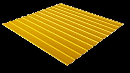 Профнастил С10 RAL 1018 (цинково-желтый) полимерное покрытие
