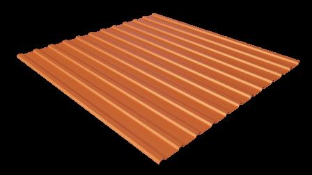 Профнастил С10 RAL 2004 (чистый оранжевый) полимерное покрытие
