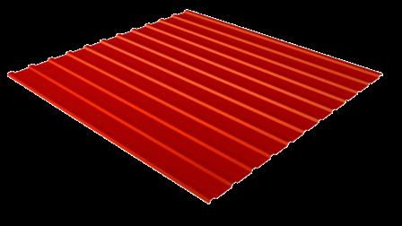 Профнастил С10 RAL 3020 (транспортный красный) полимерное покрытие