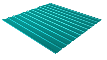 Профнастил С10 RAL 5021 (водная синь) полимерное покрытие