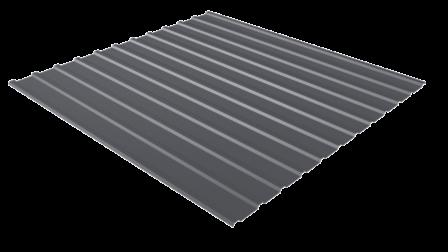 Профнастил С10 RAL 7024 (графитовый серый) полимерное покрытие