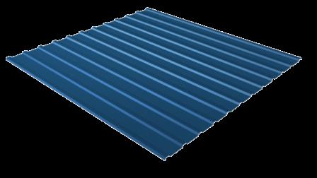 Профнастил С10 RAL 5005 (сигнальный синий) полимерное покрытие
