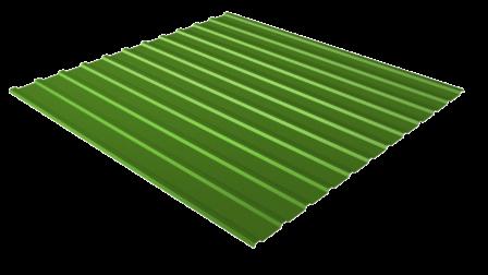Профнастил С10 RAL 6002 (лиственно-зеленый) полимерное покрытие