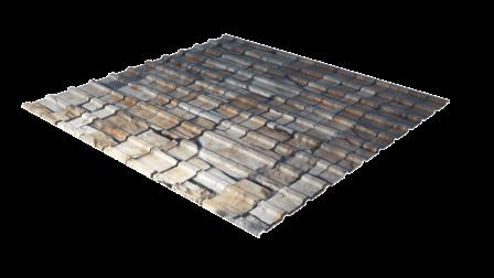 Профнастил С10 камень декоративное покрытие
